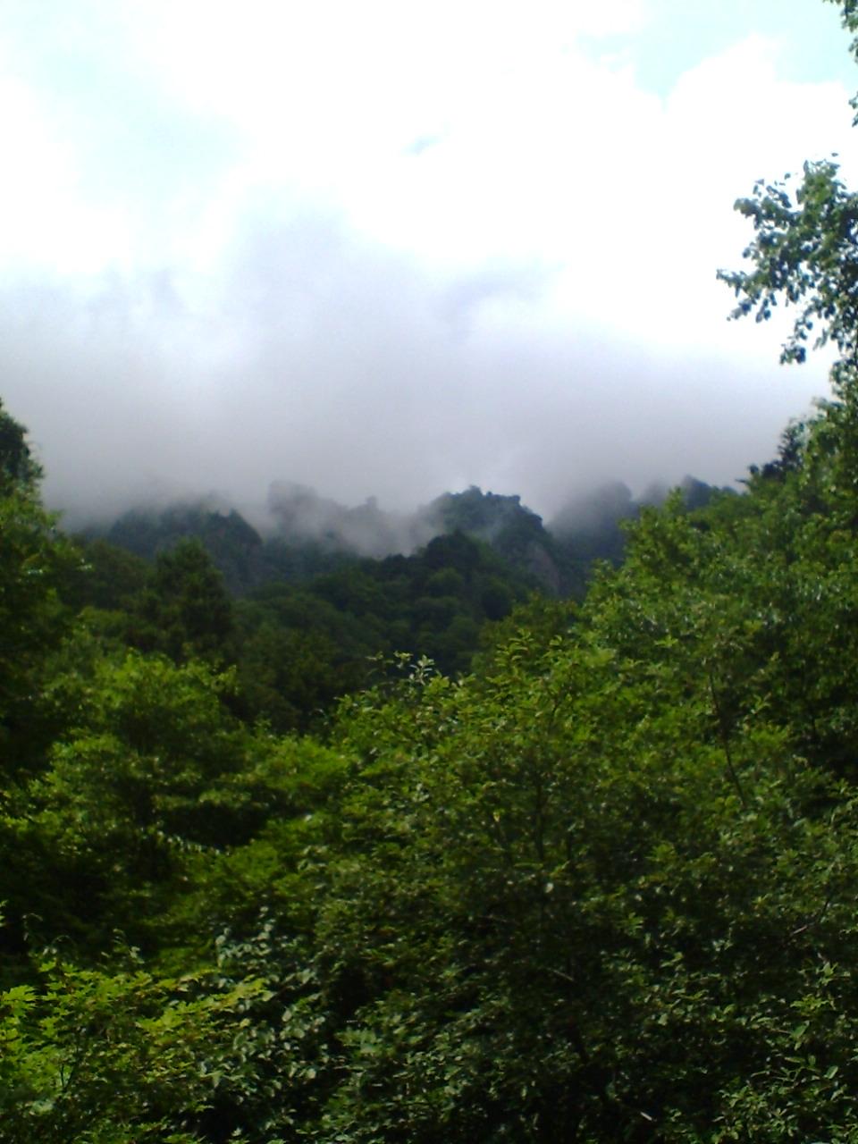 戸隠奥社からの戸隠山